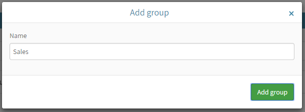Add group dialog