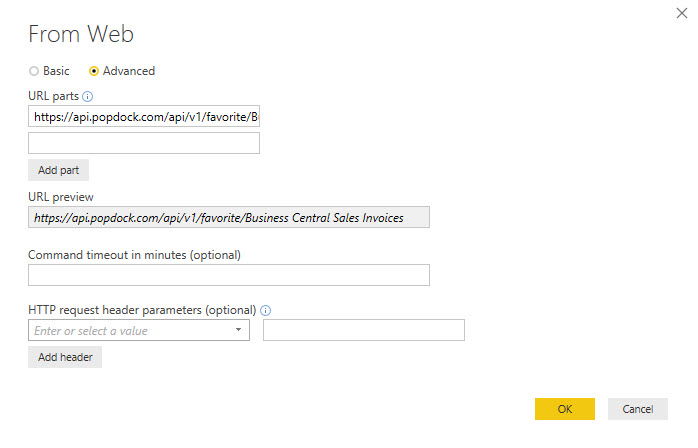 Creating a Popdock API endpoint to use with Power BI   Popdock